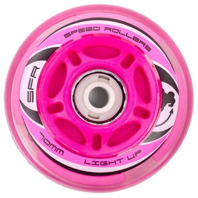 Pink Inline Light Up Wheels, 64, 70, 72mm