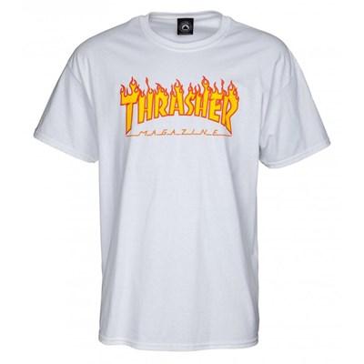 Flame Logo S/S T-Shirt - White