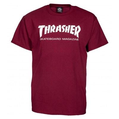 Skate Mag S/S T-Shirt - Maroon