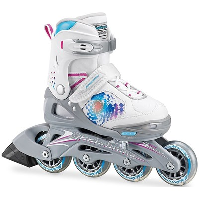 Bladerunner Phaser G Flash Girls Recreational Inline Skate - White/Multi