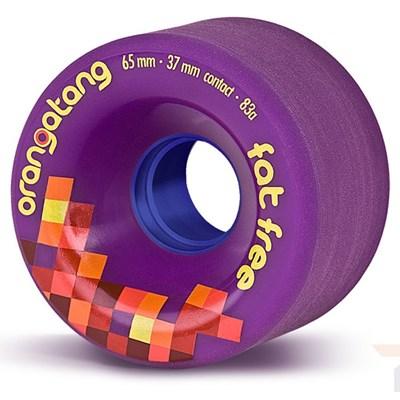 Fat Free Freeride Longboard Wheels - Purple