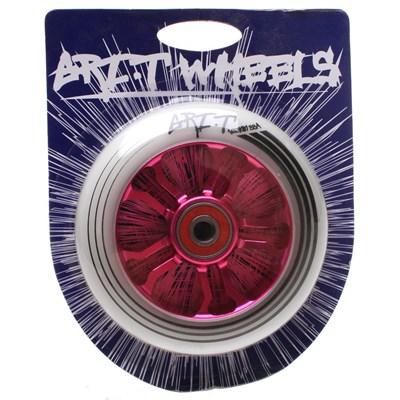 Ultra Light 100mm Aluminium Hub Scooter Wheel with Bearing - Pink