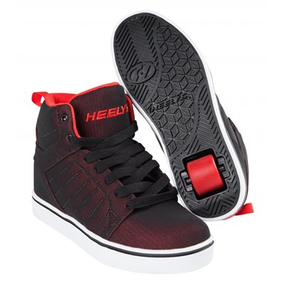 Uptown Black/Red Super Mesh Kids Heely Shoe
