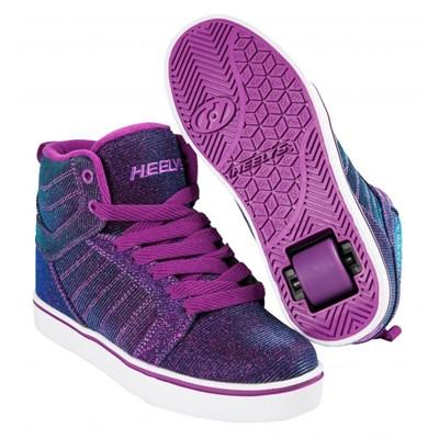 Uptown Purple/Aqua Colourshift Kids Heely Shoe