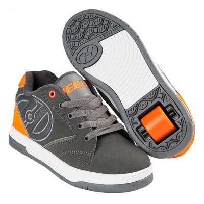 Propel 2.0 Charcoal/Orange/Grey Kids Heely Shoe