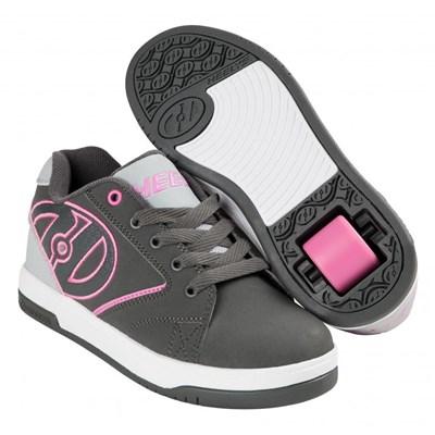 Propel 2.0 Charcoal/Grey/Pink Kids Heely Shoe