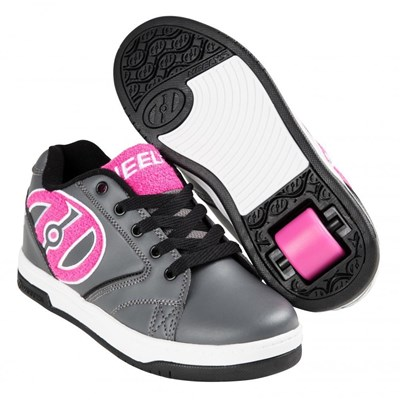 Propel Terry Charcoal/Pink Terry Logo Heely Shoe