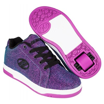 Split Purple/Aqua Colourshift Kids Heely Shoe