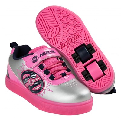POW Lighted Silver/Pink/Navy Kids Heely X2 Shoe