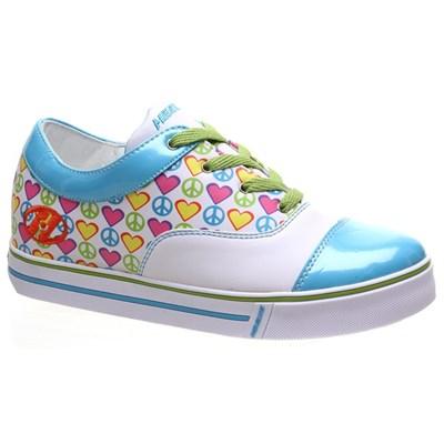 Feisty Blue/White/Multi Heely Shoe
