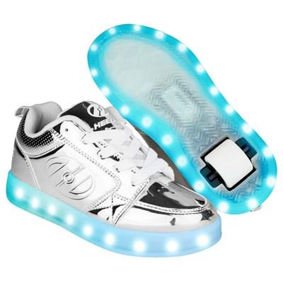 Premium 1 Lo Silver Chrome Kids Heely Shoe