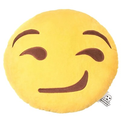 Love Bomb Smirk Emoji Cushion