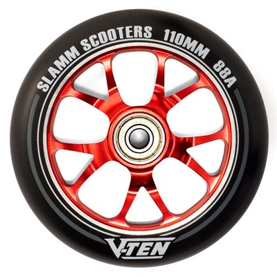 V-Ten II 110mm Alloy Core Scooter Wheel and Bearings - Red