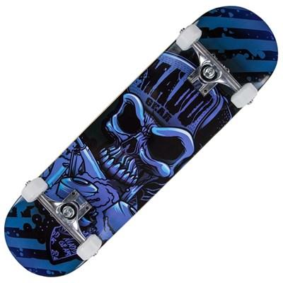 Pro Series Hatter Strip Complete Skateboard - Blue/Black