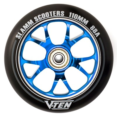 V-Ten II 110mm Alloy Core Scooter Wheel and Bearings - Blue