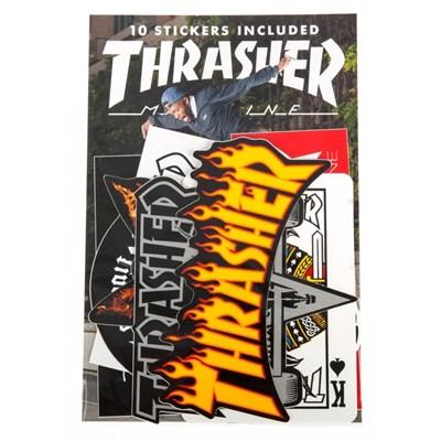 Thrasher Skate Mag Assorted 10 Pack Sticker Pack