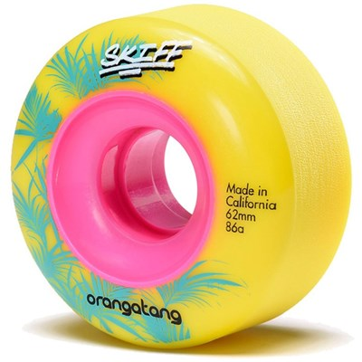 Skiff Slasher 62mm Longboard Wheels - 86a Yellow