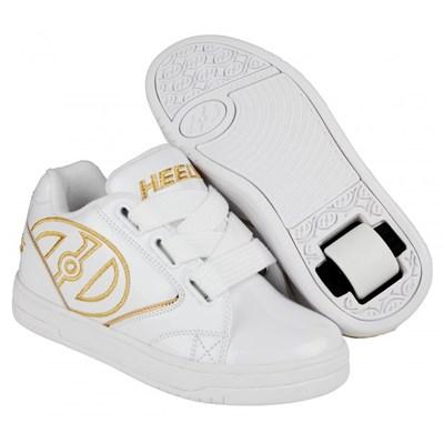 Propel 2.0 White/Gold Satin Kids Heely Shoe