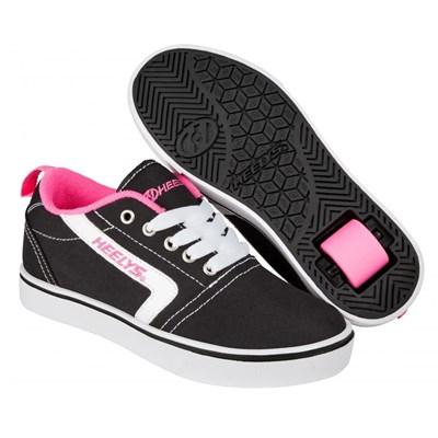 GR8 Pro Black/White/Pink Kids Heely Shoe