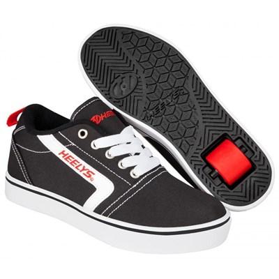 GR8 Pro Black/White/Red Kids Heely Shoe