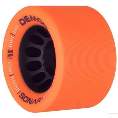 Sonar Demon EDM 62mm Roller Skate Wheels - Orange