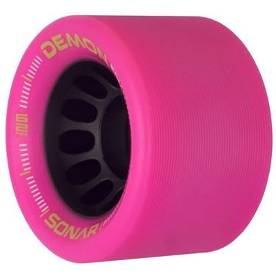 Sonar Demon EDM 62mm Roller Skate Wheels - Pink