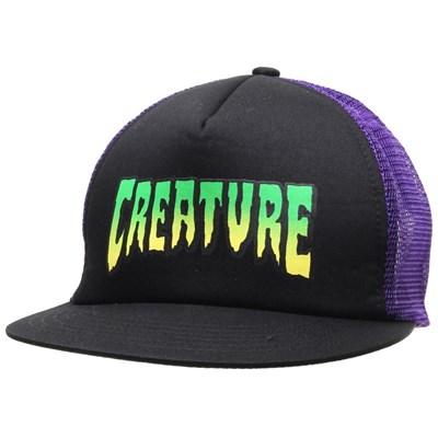 Logo Trucker Cap - Black/Purple