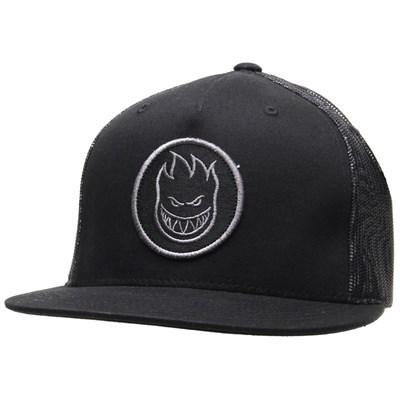 Swirl Trucker Cap - Black/Grey