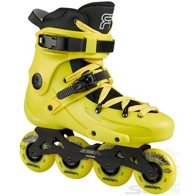 16 FR1 80 Inline Skates - Yellow/Yellow