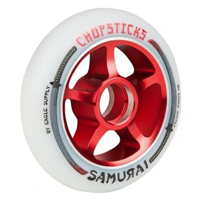 Samurai Aluminium Hub Scooter Wheel - White/Red