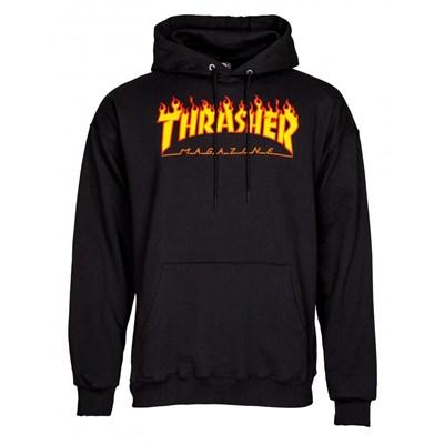 Flame Logo Hoody - Black