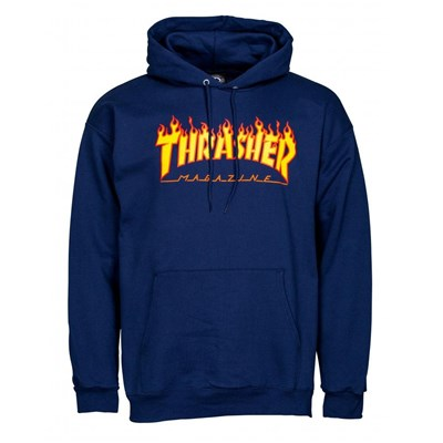 Flame Logo Hoody - Navy