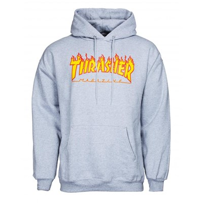 Flame Logo Hoody - Grey