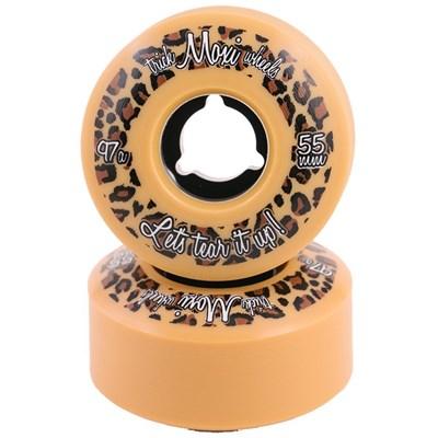 Trick 55mm/97a Roller Skate Wheels - Cream/Tan
