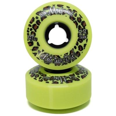 Trick 59mm/97a Roller Skate Wheels - Lime Green