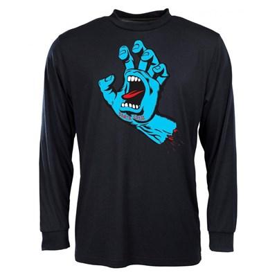 Screaming Hand L/S T-Shirt - Black