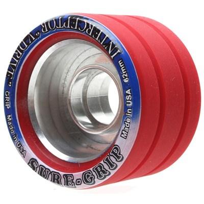 Interceptor V-Drive 62mm Red Roller Skate Wheels