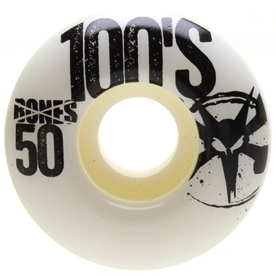 OG 100's #8 V1 White Skateboard Wheels