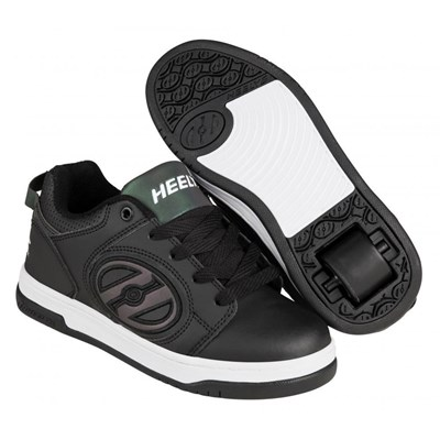 Voyager Black Reflective/Black Kids Heely Shoe