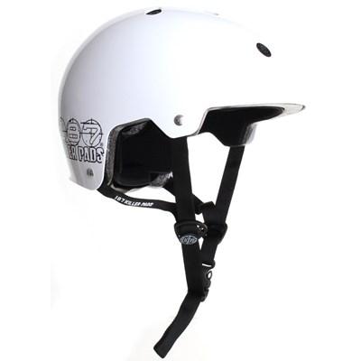 187KP Certified Skate/BMX Helmet - White