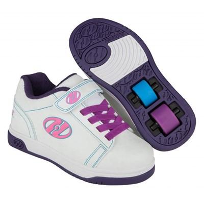 Dual Up White/Purple/Splatter Kids Heely X2 UV Shoe