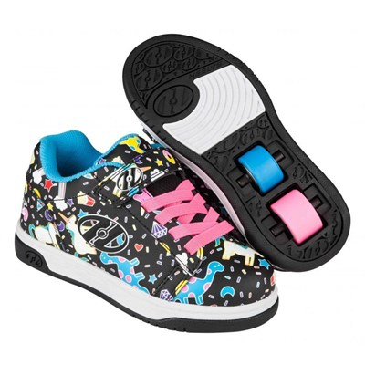 Dual Up Black/Multi/Unicorn Kids Heely X2 Shoe