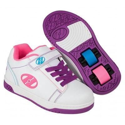 Dual Up White/Purple/Neon Multi Kids Heely X2 Shoe
