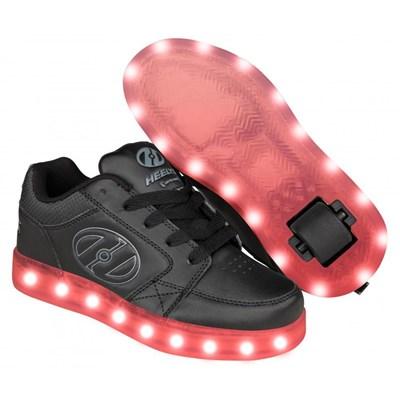 Premium 2 Lo Black/Grey Kids Heely Shoe