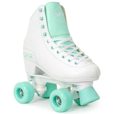 Figure Quad Roller Skates - White/Green