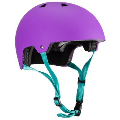 ABS Helmet - Purple with Teal Straps
