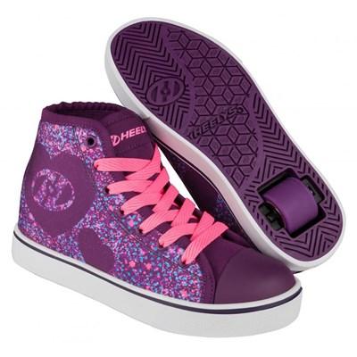 Veloz Purple/Pink/Heart Kids Heely Shoe