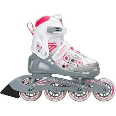 Bladerunner Phaser G Recreational Inline Skate - White/Pink/Grey Spots