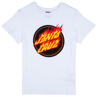 Flame Dot Girls S/S Tee - White