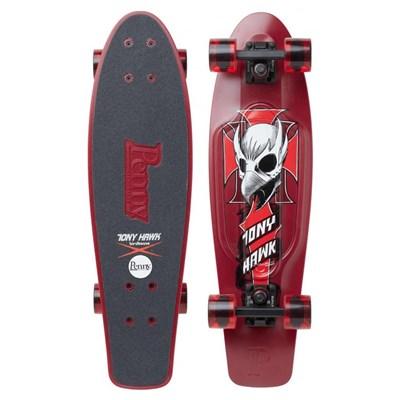 Complete 27inch Plastic Skateboard - Hawk Crest Maroon